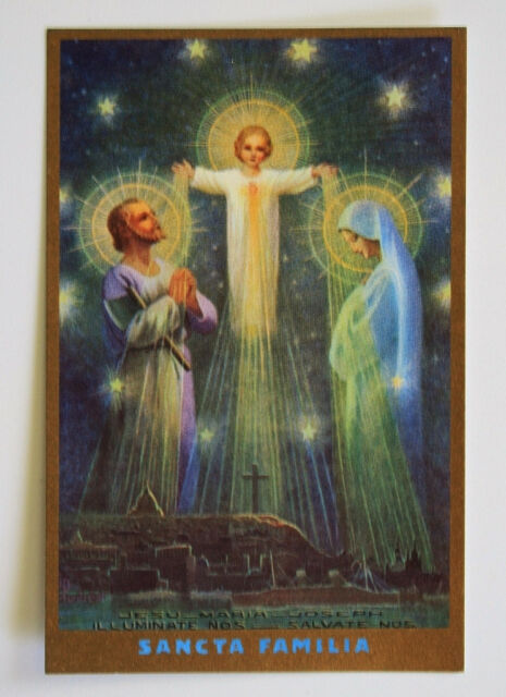 Vintage Holy Card by Mother Mary Nealis Jesus Mary Joseph HOLY FAMILY - Mint