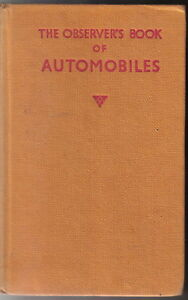 Observer-039-s-Book-of-Automobiles-1958-4th-Edition-no-dust-wrapper