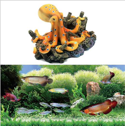 Ocean Octopus Design Landscape Ornaments for Aquarium Fish Tank Decoration 6