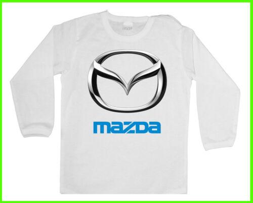 Long BABY//KID//TODDLER T-Shirt MAZDA LOGO Jungen//Mädchen LANGARM Blusen