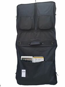 "46"" Garment Cover Bag for Suits and Dresses Clothing Deluxe Pockets Carry"