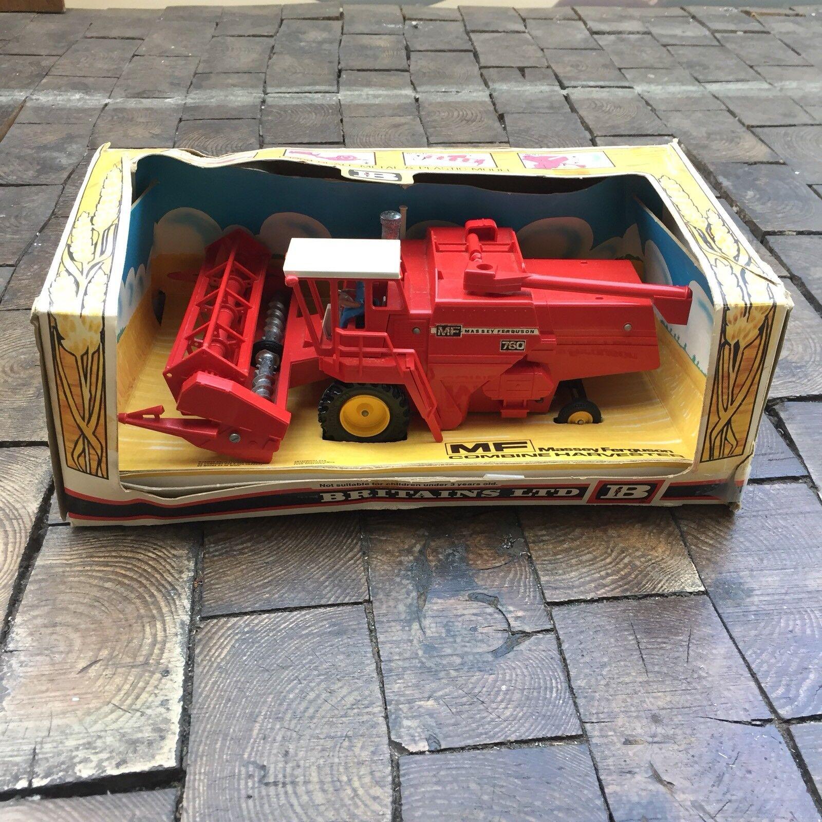 Massey Ferguson 1 32 Combine Harvester De 1978 Avec Sa Boîte