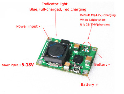 Lithium Battery Charger Module 3.7V