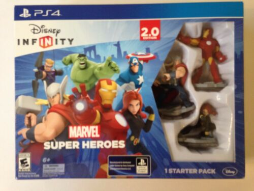 NEW PS4 Disney Infinity 2.0 Game Marvel Super Heroes Starter Pack **SEALED**