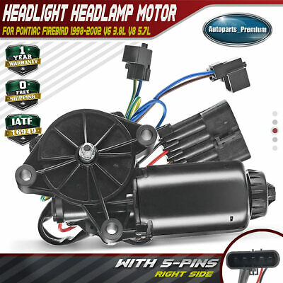 A-Premium Headlight Headlamp Motor for Pontiac Firebird 1998-2002 Front/ Left/ Driver/ Side