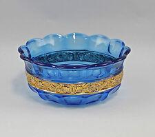 Bol Waltherglas bleu turquoise avec Plaqué or 99835211