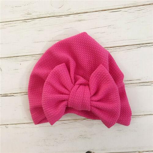 Baby Cotton Big Bow Hat Baby Kids Headbands Comfortable Turban Hair Accessories