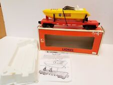 Customized Lionel L.a.s.e.r Flat Car with Lumber Load from #6-1150 Set