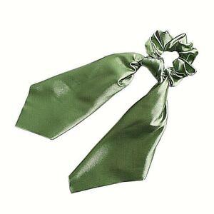molla elastico scrunchies con lazo capelli donna verde ...