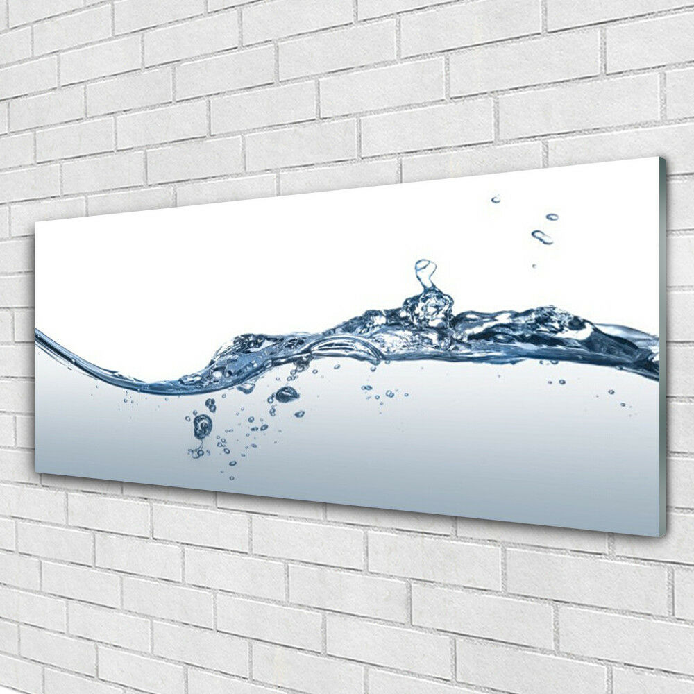 Verre Imprimer Wall Art Image 125x50 Photo Water Art
