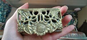 Antique-Victorian-Georgian-Brass-Box