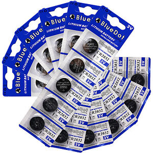 30 DL2032 ECR2032 CR2032 Battery USA SHIP 3 V Lithium Button Cell