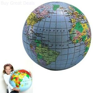 Kids world map ball inflatable world globe beach ball planet earth image is loading kids world map ball inflatable world globe beach gumiabroncs Images