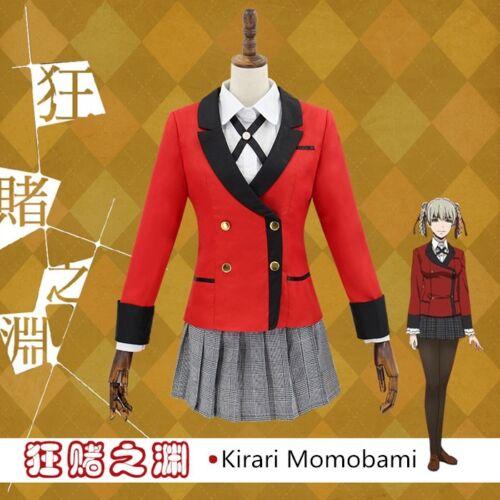 Kakegurui Yumeko Jabami School Girls Uniform Full Set Cosplay Costume Dress