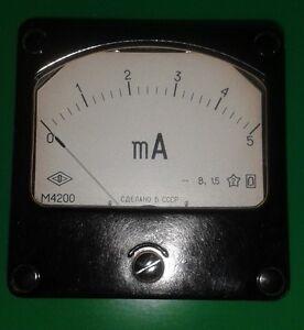 1-Stck-Einbauinstrument-0-5-mA-DC-M4200-UdSSR-NOS-1-5-Instrument