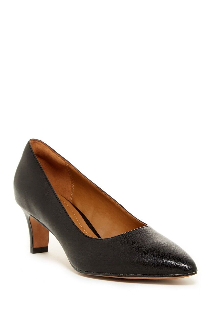 Clarks Crewso Wick Pump Black Patent Leather Size 7