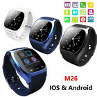 M26 Bluetooth Wrist Smart Watch Phone Mate For iPhone Android IOS For Samsung