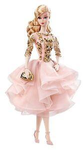 Barbie-Fashion-Model-Collection-Blush-amp-Gold-Cocktail-Dress-Silkstone-Doll