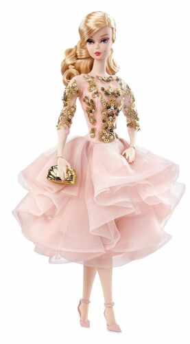 Blush /& Gold Cocktail Dress Silkstone Doll Barbie Fashion Model Collection