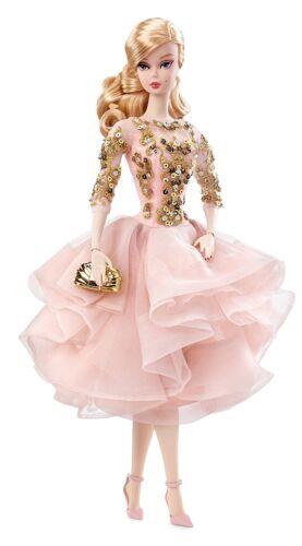 Blush /& Gold Cocktail Dress Silkstone Doll Barbie Fashion Model Collection