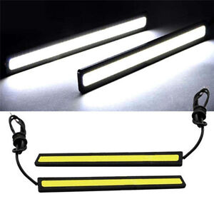 2x-Super-Bright-COB-Car-White-LED-Lights-12V-For-DRL-Fog-Driving-Lamp-Waterproof