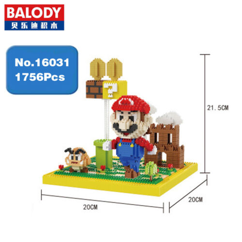 Balody Game Super Mario Goomba Coin Castle Diamond Mini Building Nano Blocks Toy