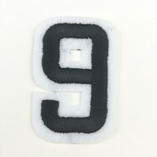 5PCS New Crafts Black Fabric Figure Appliques  Number Patch Iron on Embroidered