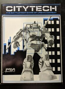 1x-Citytech-The-Battletech-Game-of-Urban-Combat-Rulebook-Used-Acceptable-Battl