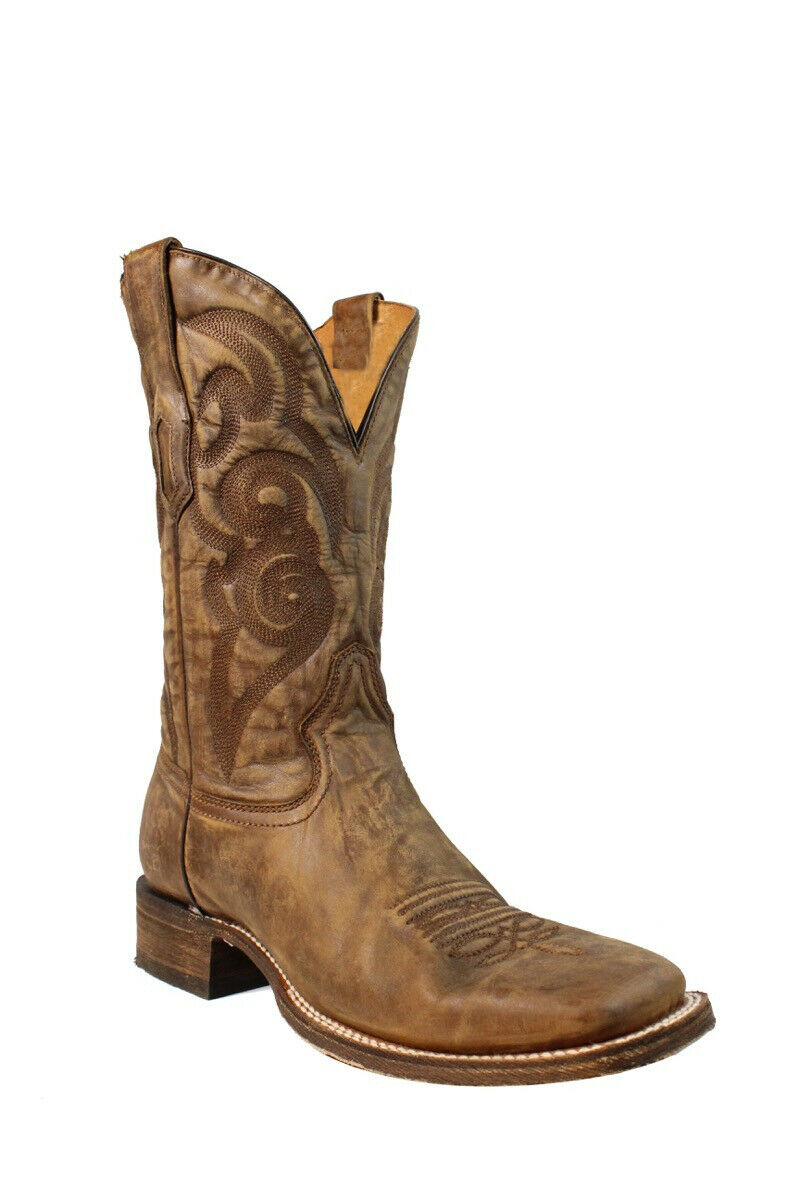Corral Men's golden Embroidered Square Toe Western Boots A3302
