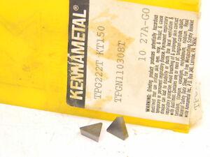 NEW-SURPLUS-10PCS-KENNAMETAL-TPG-222T-GRADE-KT150-CERMET-INSERTS-TPGN110308T