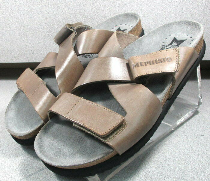 NADEO NADEO NADEO LIGHT BROWN MMMSSA60 Men's shoes Size 7 EUR 41 Leather Sandals Mephisto 91939d
