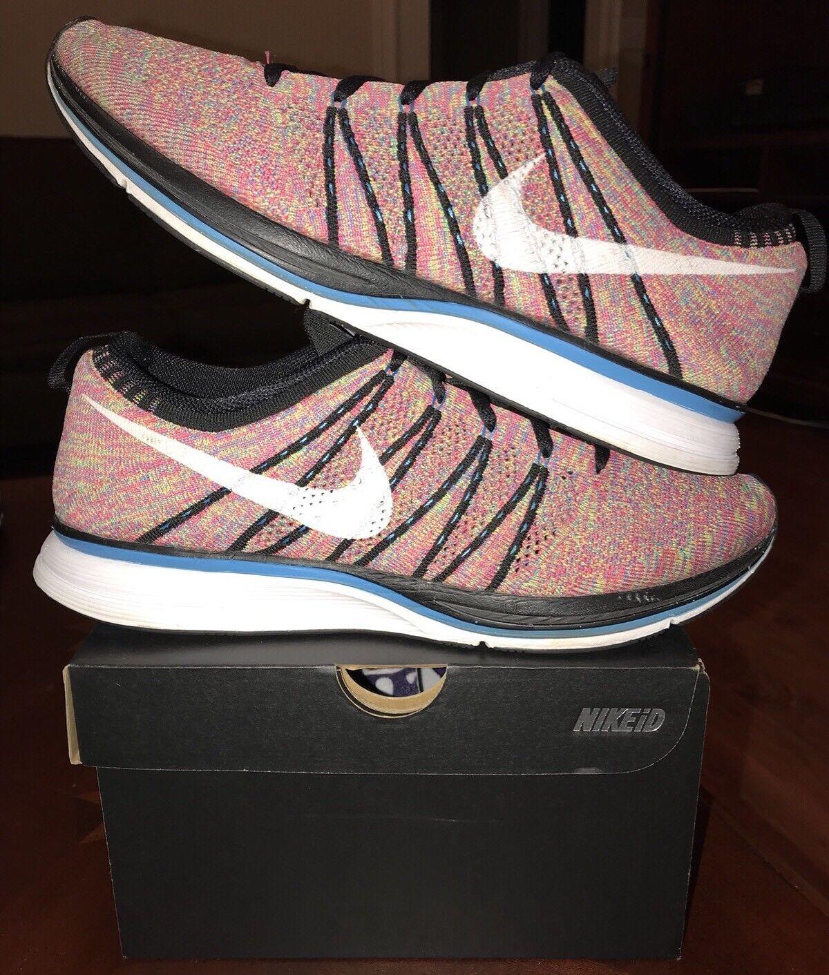 Nike flyknit trainer multicolore 12 foto blu bianco nero corridore di oreo roshe 1 2 4