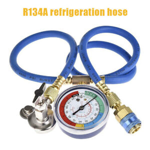 R134A-AC-Car-Air-Conditioning-Refrigerant-Recharge-Hose-Gas-Measuring-Kit-New