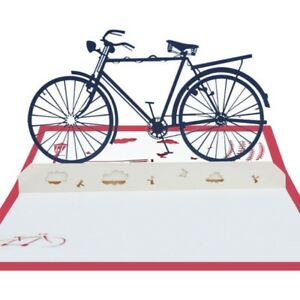 Bicycle-3D-Pop-Up-Greeting-Cards-Valentine-Lover-Happy-Birthday-Anniversary-Gift
