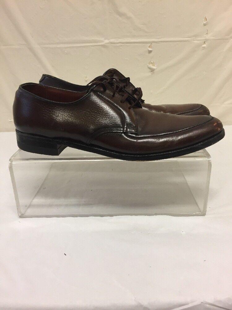 Vintage Weyenberg Massagic Brown Leather Lace Up Dress shoes Mens Sz 12 2A