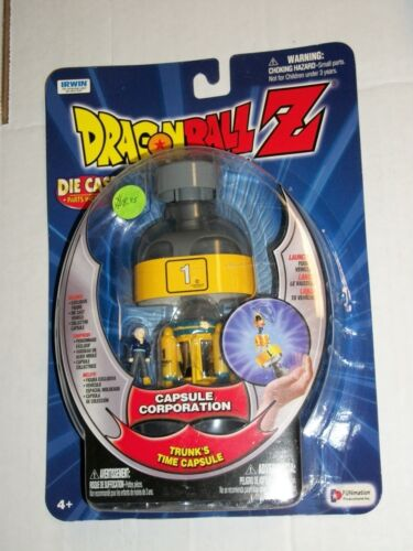 Irwin Toys DBZ Dragonball Z TRUNK/'S TIME CAPSULE Capsule Corporation Figure MOSC