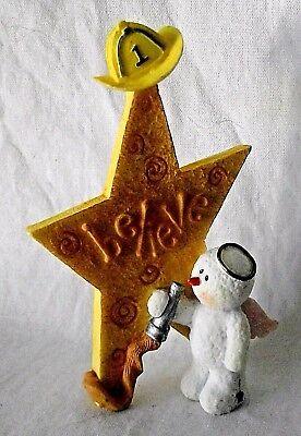 Sarah/'s Attic Snowonders Believe Wishes Snowman Angel Irish St Patrick Numbered
