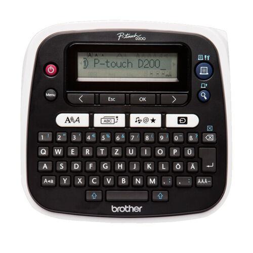 Brother P-Touch PT-D200BW Beschriftungsgerät Thermodirekt QWERTZ BRANDNEU