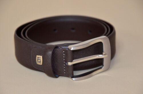 Silver Buckle mens belt size 48 Luchengyi Rigid Faux Leather Brown