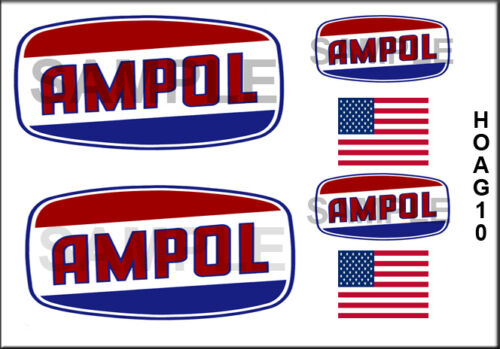 NEW PEEL AND STICK HO SCALE 1//87 AMPOL GAS MODEL BOX CAR TRUCK DECALS HOAG10
