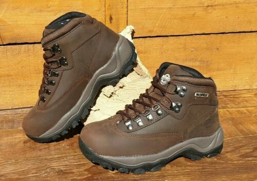 Ladies Northwest Peak Dark Brown Waxy Leather Waterproof Hiking Boots