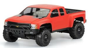 Custom-Painted-Body-Chevy-Silverado-For-1-10-RC-Short-Course-Truck-Traxxas-Slash