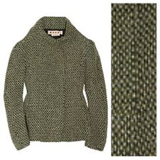 Rich Marni Sculpted Boxy Tweed Chunky Wool Jacket $1260 NWT