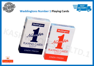 Waddingtons No.1 Classic Playing Cards Decks of Red /& Blue Poker Game Brand New