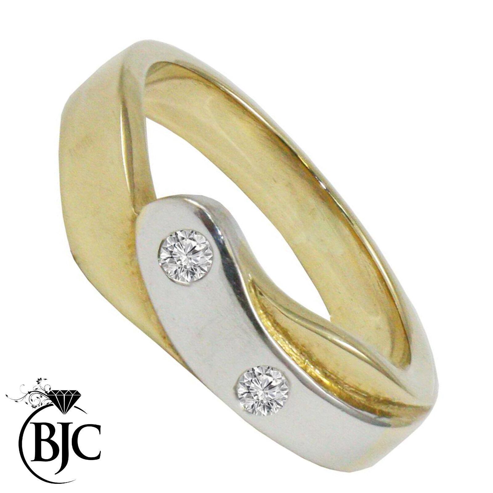 BJC® 9ct yellow gold Diamond 0.10ct Dress size L engagement dress ring R72