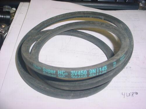 "GATES 3V450 SUPER HC V BELT  3//8 X 45/"" ON PULLEY MACHINE LAWN MOWER PARTS"