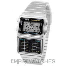 **NEW** CASIO DATABANK CALCULATOR RETRO SILVER WATCH - DBC-611E-1EF - RRP £65