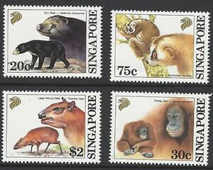 Singapore-1993-Southest-Asian-Mammal-stamps-animal