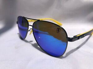 New Ray Ban Men Rb8313m 003 Ho Ferrari Gunmetal Yellow Polarized Lens Italy Made Ebay