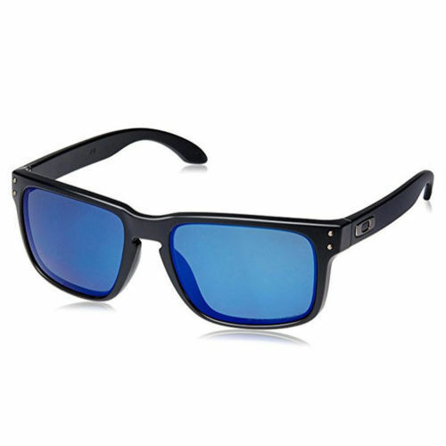 Authentic Oakley Polarised HOLBROOK Sunglasses OO 9102 Black Ice Iridium 9102-52